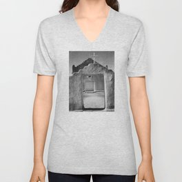 Ansel Adams - Taos Pueblo Church Unisex V-Neck