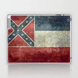 Mississippi State Flag - Distressed version Laptop & iPad Skin