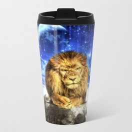 Grumpy Lion Metal Travel Mug