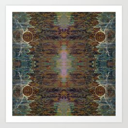 Nebulous Portal Emergence (Electric Gateway) (Reflected) Art Print