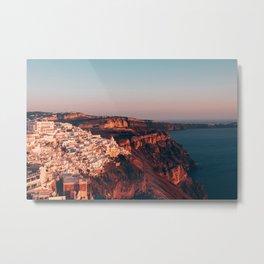 Santorini at Sunset Metal Print