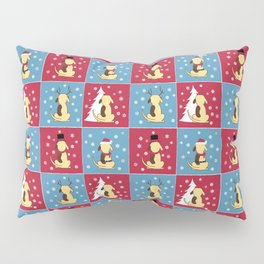 Fat Dog Christmas pattern Pillow Sham