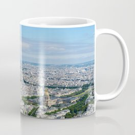 Paris aerial high resolution cityscape from Eiffel Tower to Grand Palais Coffee Mug
