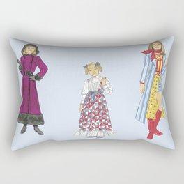 1970's Sisters Rectangular Pillow