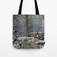 ducks Tote Bags featuring Ducks by Italo Martins