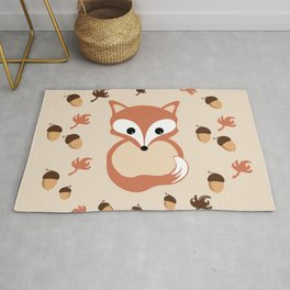 Fox in autumn Rug