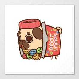Puglie Poot Loops Canvas Print