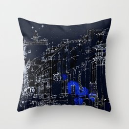 Night vision in time Throw Pillow