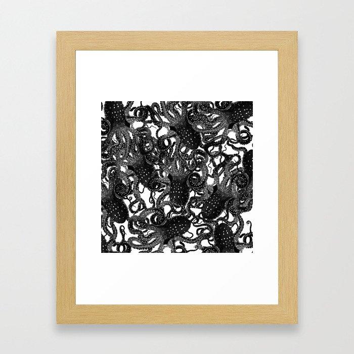 Riptide_inkpool Framed Art Print