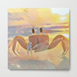 Sun Crabby Metal Print