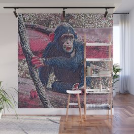 GlitzyAnimal_Chimpanzee_001_by_JAMColors Wall Mural