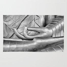Silver Buddha Lotus Pose Rug
