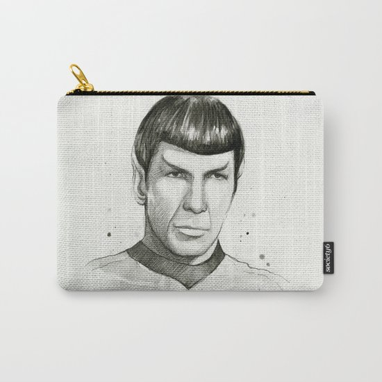 Spock Watercolor Portrait Carry-All Pouch