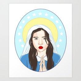 Our Lady Choi Jin Ri Art Print