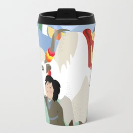 A child and his best friend Travel Mug