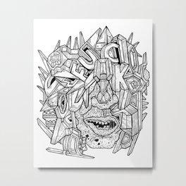 Geometric Mutations: FU*K Metal Print
