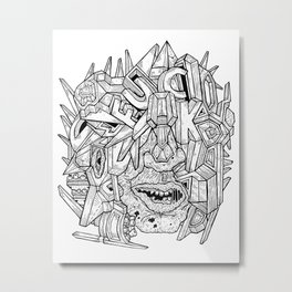 Geometric Mutations: FU*K Metal Print