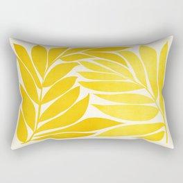 Mid Mod Vines - Yellow Rectangular Pillow