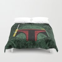 boba fett Duvet Covers featuring Boba Fett by Some_Designs