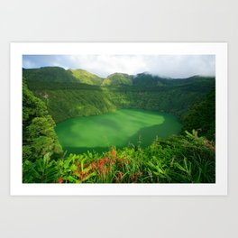 Lake in Azores Art Print