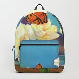 A Morning Greeting From Narcissus Flowers Backpack