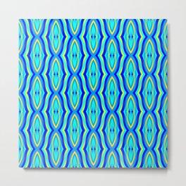 Aqua Arabesque Metal Print