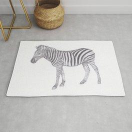 Zebra Pencil Drawing Rug