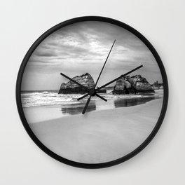 Stone beach Praia da Rocha Wall Clock