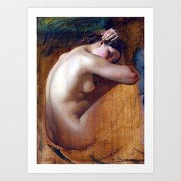 Henri Lehmann Study of a Female Nude Kunstdrucke