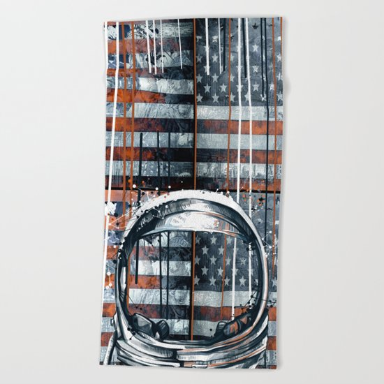 pop art usa collage 2 Beach Towel