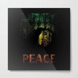 Marley Grunge Peace Metal Print