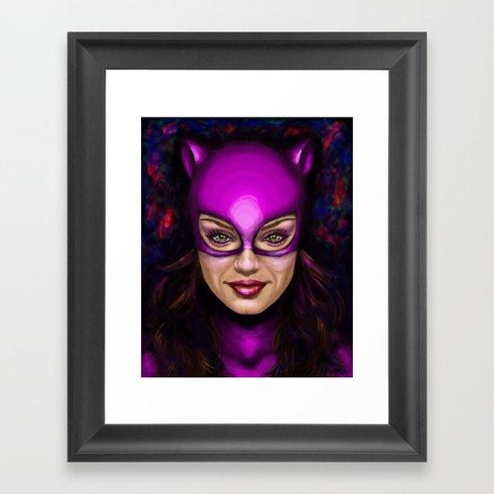 Cat of Kunis Framed Art Print