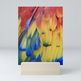 Colorful Parrot Feathers Mini Art Print