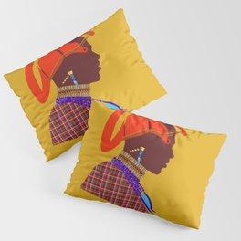 kenyan massai warrior artwork atalanta creatives design Pillow Sham