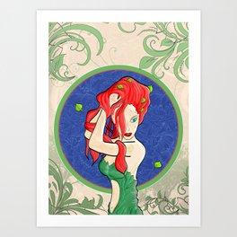 Poison Ivy Art Nouveau Art Print
