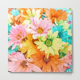 Simone #painting #floral Metal Print