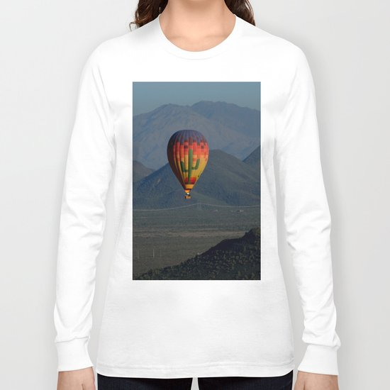 Hot Air Balloon over Arizona Morning Long Sleeve T-shirt