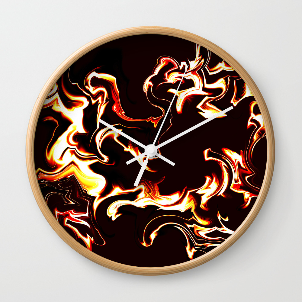Burn Baby Burn Wall Clock by Vwdigitalpainting CLK8762319