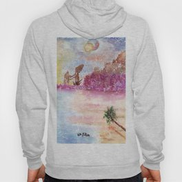 A New World Watercolor Art Illustration Hoody