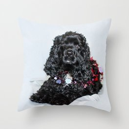 Valentine Puppy Photography Print Throw Pillow
