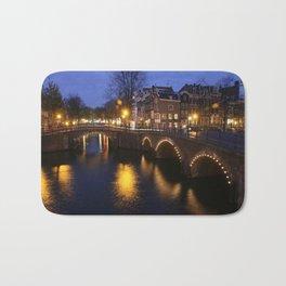 Night Bridge Bath Mat