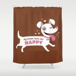 Dog kisses Shower Curtain