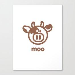 Cow : moo Canvas Print