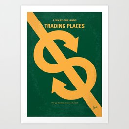 No377 My Trading Places minimal movie poster Art Print