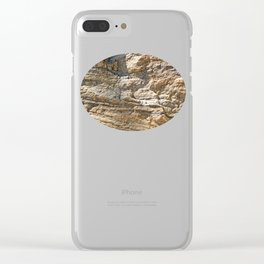 Stunning sedimentary rock texture Clear iPhone Case