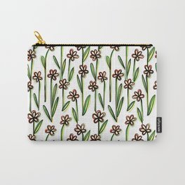 Five Leaves Flowers - Creative Floral Pattern Carry-All Pouch