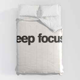 KEEP FOCUS Comforters