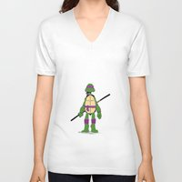 tmnt V-neck T-shirts featuring TMNT by Shahbab