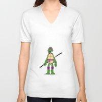 tmnt V-neck T-shirts featuring TMNT by Shahbab
