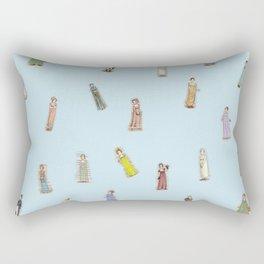 Jane Austen characters Rectangular Pillow